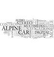 alpine adventure tours text word cloud concept vector image vector image