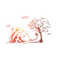 animal lion wild woman save concept vector image