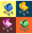 Baby pram pushchair stroller perambulator vector image