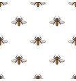 bee icon in cartoon style isolated on white vector image