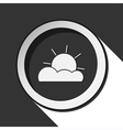 black icon with partly cloudy and stylized shadow vector image vector image