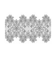 black lace border vector image vector image
