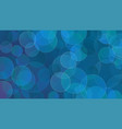 blue bubbles abstract background vector image vector image
