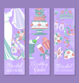 bridal shower set banners vector image vector image