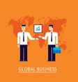 businessman partnership teamwork collaboration vector image