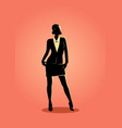 businesswoman standing with confident vector image vector image