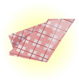 checkered fabric vector image