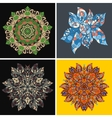 Collection of symmetric ethnic ornaments vector image vector image