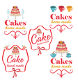 collection vintage retro bakery logo labels vector image