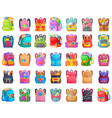 colored school backpack back to school vector image vector image