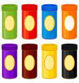 colorful cartoon jar set vector image