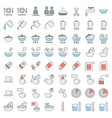 cooking instruction icon material for use in vector image vector image
