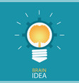 creative light bulb with brain and gear vector image