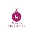 creative logo christmas symbol reindeer color vector image vector image
