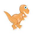 cute dinosaur cartoon character vector image