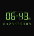 digital clock number set or calculator electronic vector image