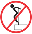 Do not Clamber Not Allowed Sign warning symbol vector image vector image