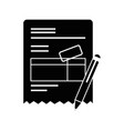 document contract official vector image vector image