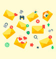 email envelope cover icons communication vector image vector image
