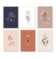 female hands cards linear woman hand combination vector image vector image