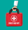 first aid kit cloth bag for medicine vector image