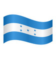 flag of honduras waving on white background vector image