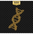 Gold glitter object vector image vector image