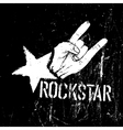 grunge rockstar vector image vector image