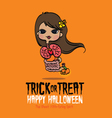 Halloween Thai Ghost vector image vector image