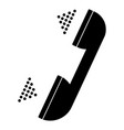 handset set black and grey color vector image