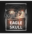 Hipster Design With Eagle Skull vector image
