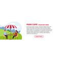 horizontal brochure design for park cafe couple vector image vector image