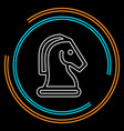 horse chess icon chess game horse vector image