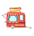 hot dog street shop icon cartoon style vector image vector image