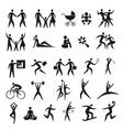icon set human figures vector image