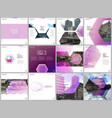 minimal brochure templates with hexagonal design vector image vector image