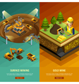 Mining Vertical Banners Set vector image vector image