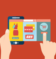 mobile app for online shopping vector image vector image
