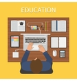 Modern education Online study concept vector image vector image