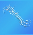 music notes background design blue paper isolated vector image vector image