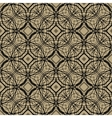 Pattern with decorative shapes in art deco style vector image vector image