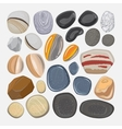 River stones isolated on white background vector image vector image