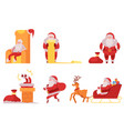 santa claus set - various vector image
