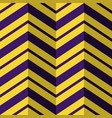 seamless pattern purple yellow zig zag background vector image