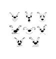 set emotions facial expression vector image