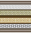 set of greek geometric borders vector image