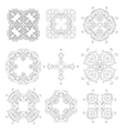 Set of Ornaments black white cards with mandalas vector image vector image
