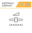 settings editable stroke line icon vector image