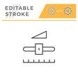 settings editable stroke line icon vector image vector image