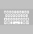 smartphone keyboard vector image vector image